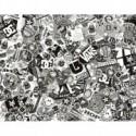 Sticker Bomb Comic Folie mit Echtem Logos 152x50cm