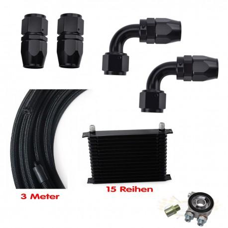 15 Reihen Ölkühler Set AN10 Thermostat C20LET C20XE Z20LET Calibra Astra
